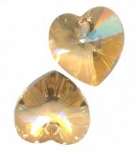 COEURS SWAROVSKI® ELEMENTS 10.3 X 10 CRYSTAL GOLDEN SHADOW X 6