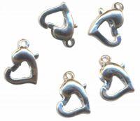 Fermoirs ( mousquetons ) ressorts de Collier Bracelet 12 x 8 mm Coeur Qte : 5