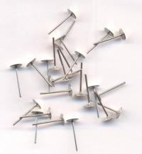 Clous d'oreille Métal Gris Argenté 12x5mm  Qte : 20