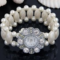 Montre Bracelet Cristal Verre Strass 24mm Chic Pour Femme X 1