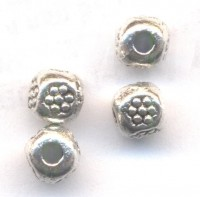 Intercalaires  Ronds en Argent Tibétain 4x4mm  taille du trou = 1 mm X 10