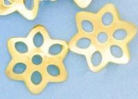 Calotte Coupelles  Fleur Doré 1.5x9.5mm   X 20
