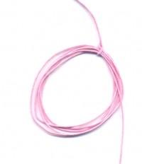 Cordon en Coton Ciré Rose 1mm  1 metre