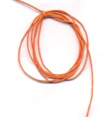 Cordon en Coton Ciré Orange 1mm  1 metre
