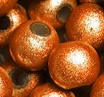 Perles Magiques Rondes    4mm ORANGE JAUNE X 20