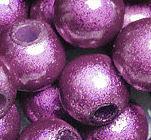 Perles Magiques  Rondes  4mm VIOLET X 20