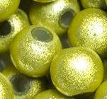 Perles Magiques  Rondes  4mm JAUNE BRILLANT X 20