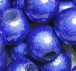 Perles Magiques Miracles Rondes  4mm BLEU FONCE X 20