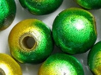 Perles Magiques Miracles Rondes  Jaune et Vert 6mm X 80