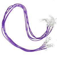 Colliers Violet Cordon coton Ciré 45cm  X 1