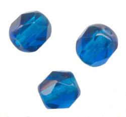 Facettes de boheme 6 mm CAPRI BLUE Perles a facettes crystal de boheme X 50
