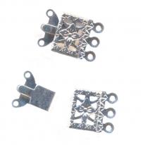 Fermoir bijoux filigrane 3 rangs 15 x 10 mm argent X 5