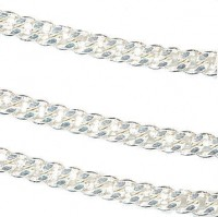 Chainette maille gourmette 2mm  1 metre