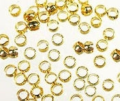 Intercalaires,perles à écraser or  2.5 mm Qte : 1000