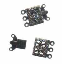 Fermoir bijoux filigrane 3 rangs 19 x 10 mm cuivre X 30