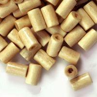 450 Perles en bois Tube beige  8x5mm ..taille du trou = 1.6 mm