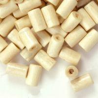 450 Perles en bois Tube blanc  8x5mm ..taille du trou = 1.6 mm