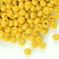 1400Perles en bois Rond jaune  3x4mm ...taille du trou = 1.4 mm