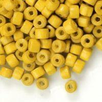 1200 Perles en bois Donut jaune  3x4mm ..taille du trou = 1.4 mm