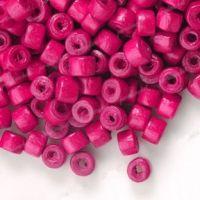 1200Perles en bois Donut rouge  3x4mm ....taille du trou = 1.4 mm