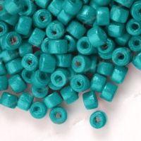 1200 Perles en bois Donut bleu  3x4mm ...taille du trou = 1.4 mm