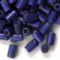 450 Perles en bois Tube violet  8x5mm ...taille du trou = 1.6 mm