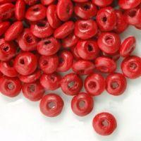 800Perles en bois Ronde rouge  3x6mm...taille du trou = 1.6 mm