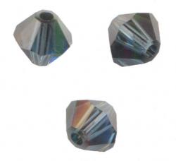 TOUPIES SWAROVSKI® ELEMENTS 4 mm MONTANA SATIN X 100