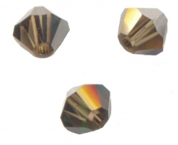 TOUPIES SWAROVSKI® ELEMENTS 4 mm SMOKY QUARTZ SATIN X 100