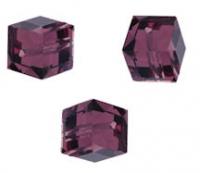 Perles cubes Swarovski 8 mm ( 5601 ) Amethyst X 1