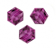 Perles cubes Swarovski 8 mm ( 5601 ) Fuschia X 1
