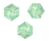 Perles cubes Swarovski 8 mm ( 5601 ) Pacific opal X 1