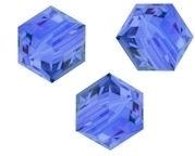 Perles cubes Swarovski 8 mm ( 5601 ) Sapphire X 1