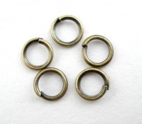 Anneaux de Jonction Couleur Bronze 5mm X 100