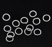 Anneaux de Jonction Argenté  5mm X 100