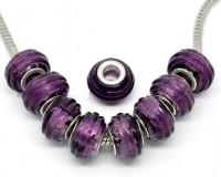 Perles Lampwork Verre pour Bracelet  14x10mm X 10