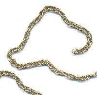 Chaîne maille Tressé Couleur Bronze 5.9x4mm   X 2 metres