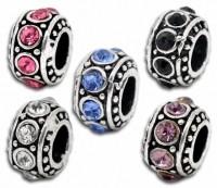 Mixte Perles  Strass pour Bracelet   11mm ( trou 5 mm ) X 10