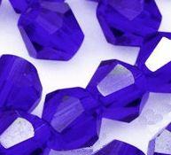 Toupies en cristal 4 mm cobalt X 100