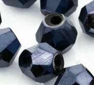 Toupies en cristal 4 mm bleu hematite X 120