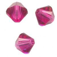 Toupies crystal 4 mm Fuschia AB x 100