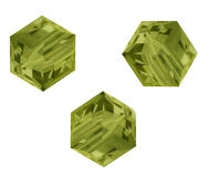Perles cubes Swarovski 8 mm ( 5601 ) Khaki X 1