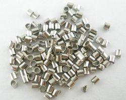 Perles à écraser Tube  2x1.5mm X 100