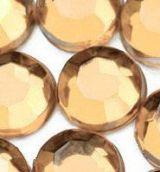 Demi perles Strass Acrylique Facette Champagne Ronde 2.5mm  X 1000