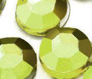 Demi perles Strass Acrylique Facette Vert Ronde  3mm X 1000