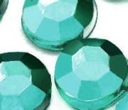 Demi perles Strass Acrylique Facette Bleu Ronde 3mm  X 1000