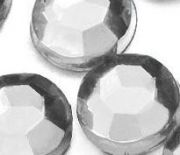 Demi perles Strass Acrylique Facette Blanc Ronde 3mm  X 1000