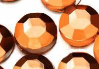 Demi perles Strass Acrylique Facette Marron Ronde 3mm  X  1000