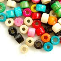 1200 Mixte Perles en bois Donut.  3x4mm ..taille du trou = 1.6 mm