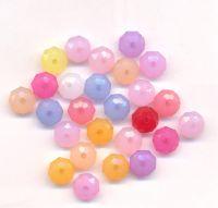 Mixte Perles facette Rondelle  Acrylique 8x8mm  X 105